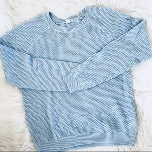 🌟NEW LISTING! 3/17🌟 Baby Blue Knit Sweater